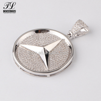 Hot selling Famous Automobile car brand hip hop mens iced out cz custom pendant