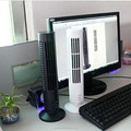 table rechargeable mini USB tower fan, 13'' tower fan, bladeless cooling tower fan