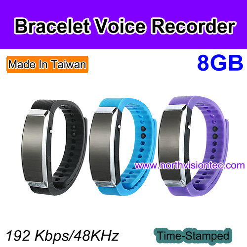 Watch Digital Voice Recorder with time stamp