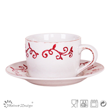 rattan stamp with Cup Saucer Cheap high quality modern style for gift