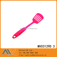 HOT SALE NYLON KITCHEN TOOLS WITH RUBBER AND PLASTIC HANDLE/SLOTTED TURNER