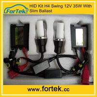 Top quality Low price 12v 35w/55w/75w/100w H4 swing Lamp Hid Xenon Kits with Slim Ballast China for BMW,BENZ,FERRARI,ect