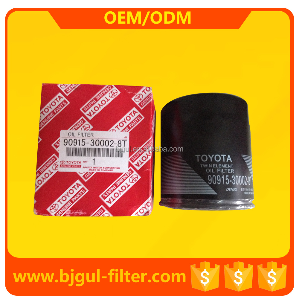 cars accessories Oil filter 90915-30002-8t for Toyota Avensis