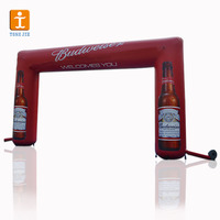 custom design various shape finish line event inflatable arch for advertising