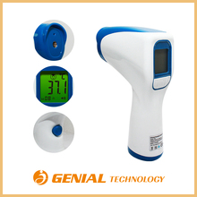 New style 3 color backlight digital non contact forehead infrared thermometer