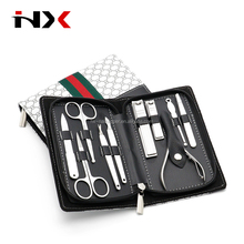 Color Box PU Case Classic Manicure Set -High Quality Professional Manicure Pedicure Tool Kit -Stainless Steel Manicure Set 10pcs