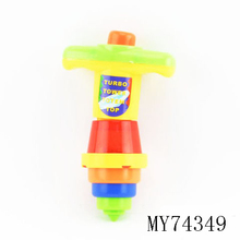 Hot Selling customized color and logo Flashing spinning top toys