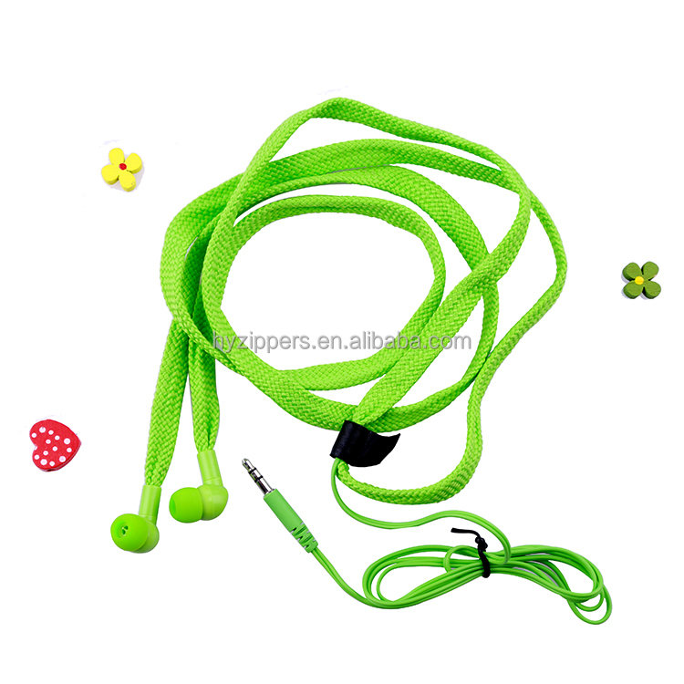 2016 new electronic cheap shoelace earphones for cell phone accessory