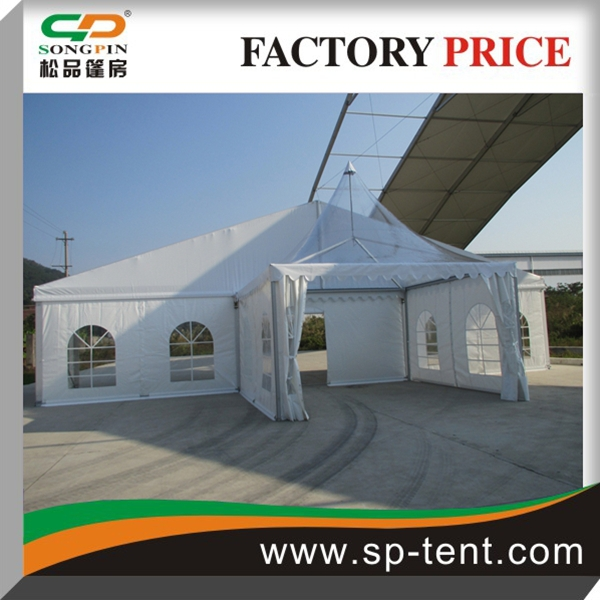 500 people outdoor aluminum frame big tents for marriage anniversary celebration with clear glass wall