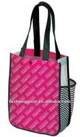 side pocket pp non woven shopping bag