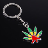 free shipping Wholesale stock zinc alloy colorful plant Grass Keychain/keyring for christmas day decoration