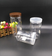 Transparent food sealed plastic jars wholesale packaging bottle tea cookies dessert snacks bottle