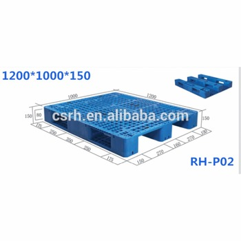 RH-P02 1200*1000*150mm American Style Grid-sharped Plastic Pallet