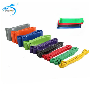 Wholesale latex 5 levels rubber Yoga loop resistance band, stretch crossfit loop bands