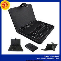 "Stand Leather Case Cover for Android Tablet 7"" 8"" 10"" Universal with USB Keyboard"