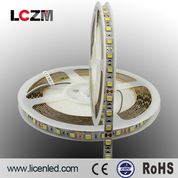 2017 New LED Product 12V Double Row LED Strip SMD 5050 <strong>RGB</strong> + 2835 White / Warm White,120Leds/m Strip
