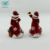 OEM personalized embossed decal hard dolomite red cheap ceramic salt & pepper shaker set
