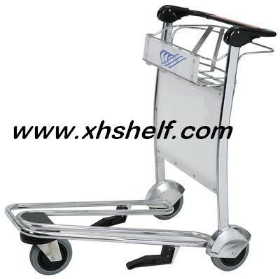 Hot ! 4 wheels airport luggage cart with brake