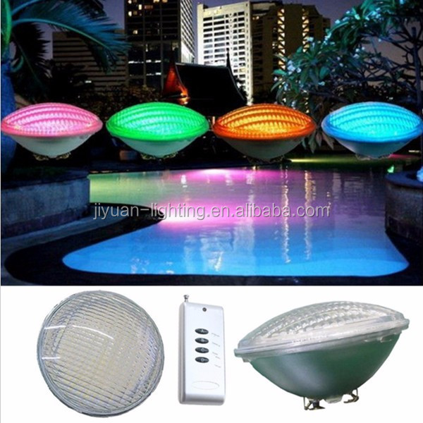 High brightness RGB JIYUANLUX glass 18x3W underwater led lights swim spa/pond/fountain par56 3500lm automatic pool covers