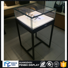 high end mdf painted wooden watch display stand for watch shop interior design and decoration
