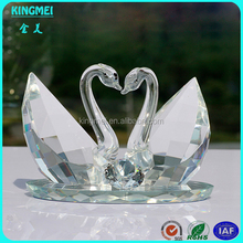 Crystal wedding pair swan model ,crystal craft &gifts factory
