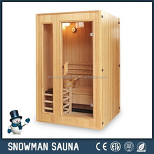 Hot sale 3 persons wooden portable steam sauna room traditional finnish sauna room with Harvia stove