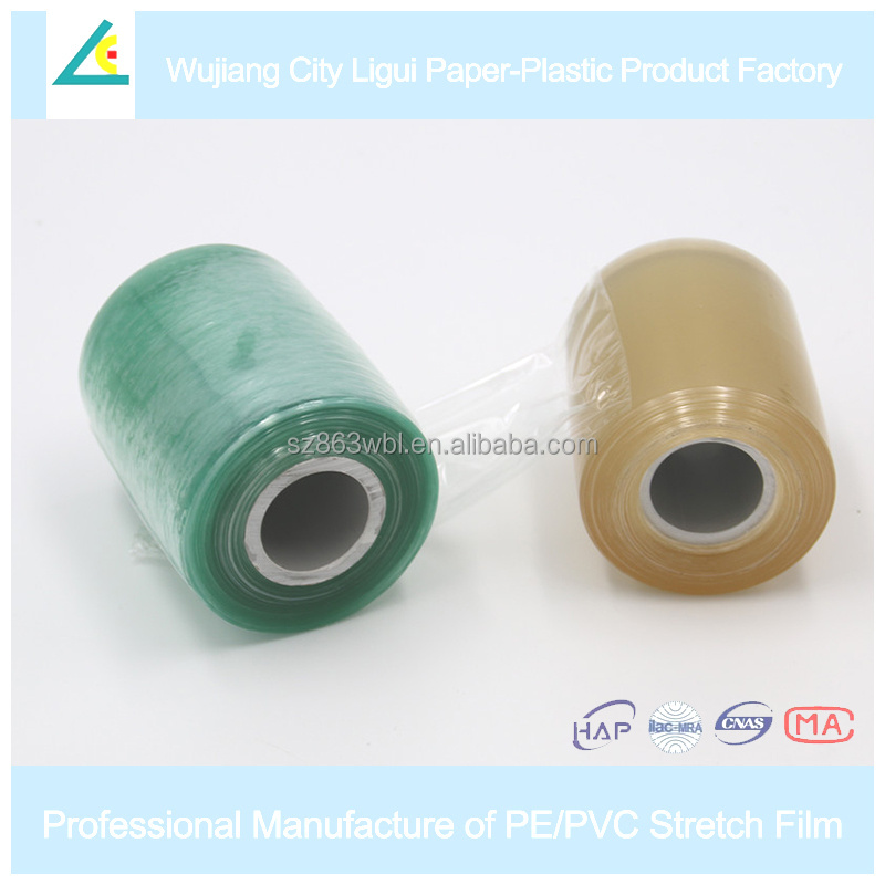 LG49 Self-adhesive transparent packaging roll pvc wrap stretch film