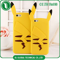 mobile phones covers silicone case Pikachu case for iphone 6 3d cute Pikachu pattern phone case for iphone 6s