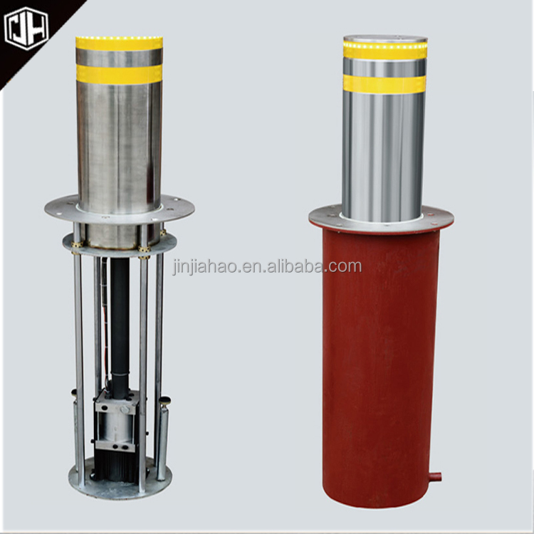 Security retractable road block barriers automatic rising lifting bollards