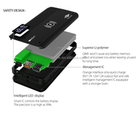qc 2.0 quick charging wireless rechargeable mobile phone battery charger
