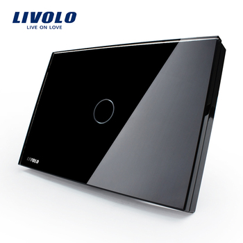Livolo US standards Touch Light black Switch with Red & Blue indicator button wall switch VL-C301-82