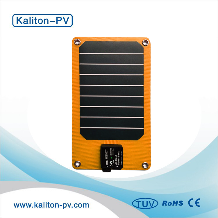 New fashion outdoor functional travel 5W solar panel charger bag for mobile phone with OEM color