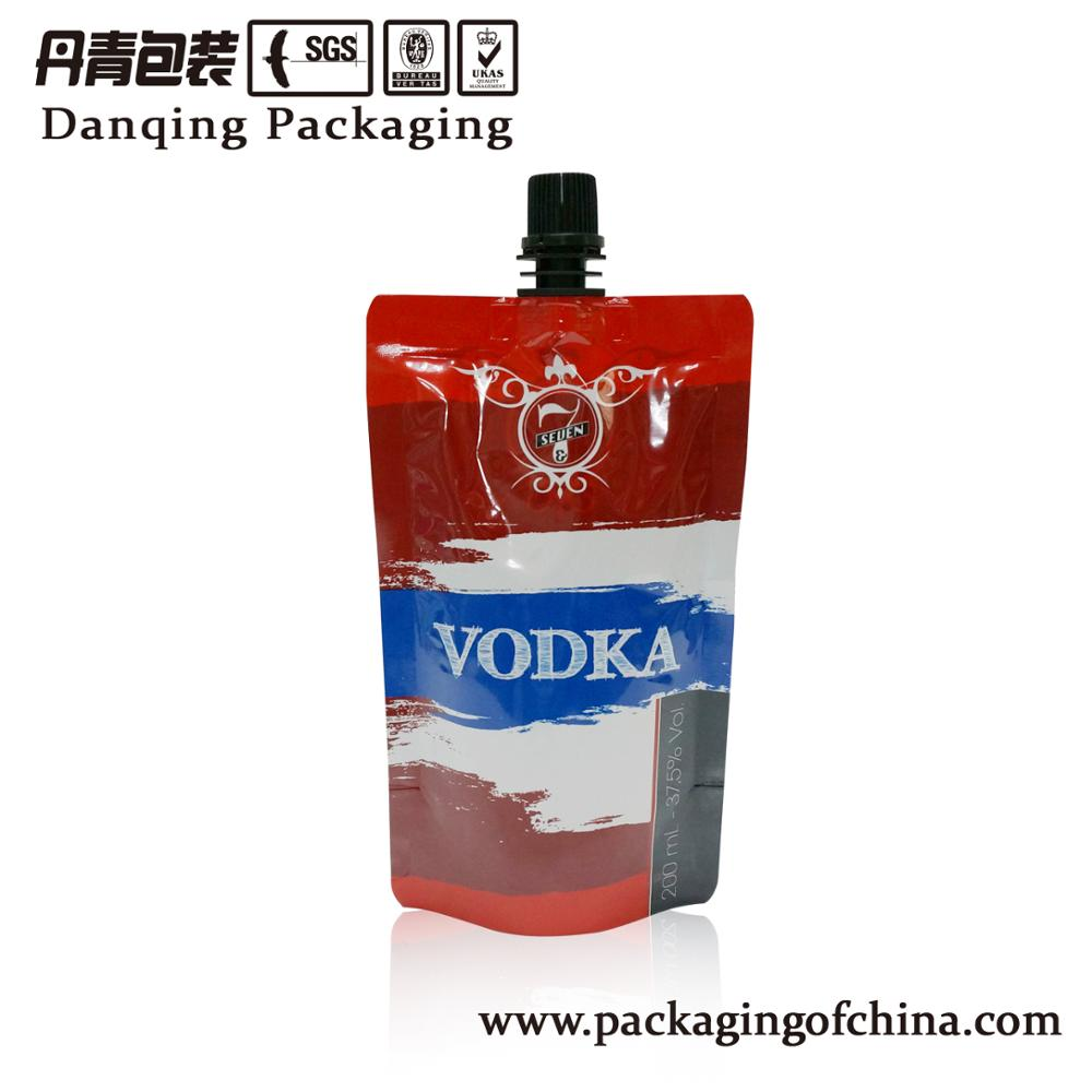 China suppliers heat seal wine bag with spout for liquid