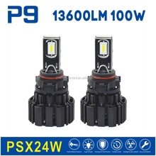 auto parts car accessories 100w new products P9 led headlight