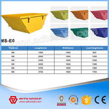 2016 hot sell skip bins Q235 steel waste skip with cheap factory price duty skip customized available