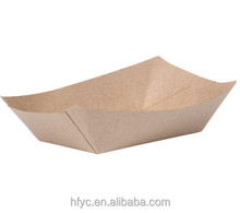 2016 promotion Best Sales china disposable cheap food grade new product hot dog kraft paper tray