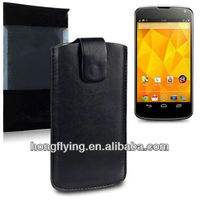 Hot-selling Leather Pouch case for LG Nexus 4