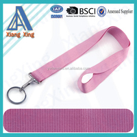 Small business ideas hot sale pink lanyard with keyring for keys