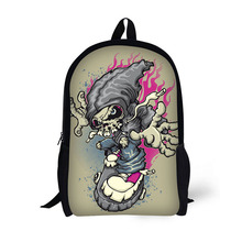 Personalized skull printed school bags backpacks for girls
