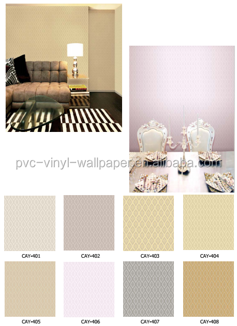 Wholesale waterproof home decoration pvc vinyl wallpaper
