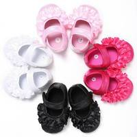 Princess flower Soft Sole Baby Girl Shoes 2017 New Fashion Fancy Lace shoes baby