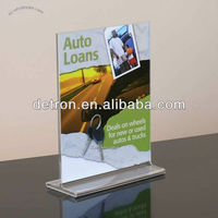 Clear Acrylic Sign Holder/table menu holder a270