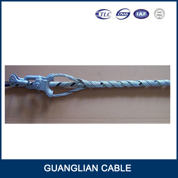 clamp preformed guy grip dead end/120kn optical cable tension fittings