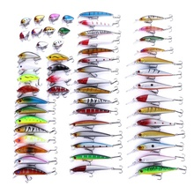 56PCS Mixed fish kit Minnow Wobblers Crankbait Hard <strong>Bait</strong> Tackle Artificial <strong>Fishing</strong> Lure Set