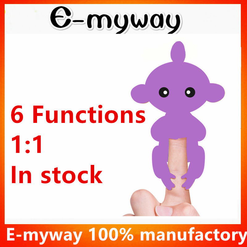 6 Functions Hot Finger Toy baby Monkey Interactive Baby Monkey for Kids