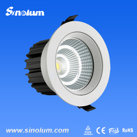 commercial anti-glare 7w cob high power led downlight