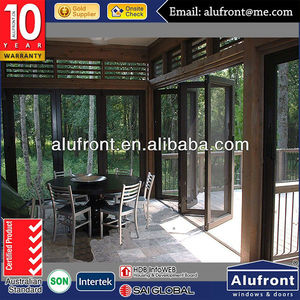 Glass Interior Folding Doors/Aluminum Frame Door Made in Guangzhou