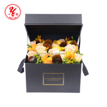 Luxury Small white square flower packaging box for 9 roses supplier
