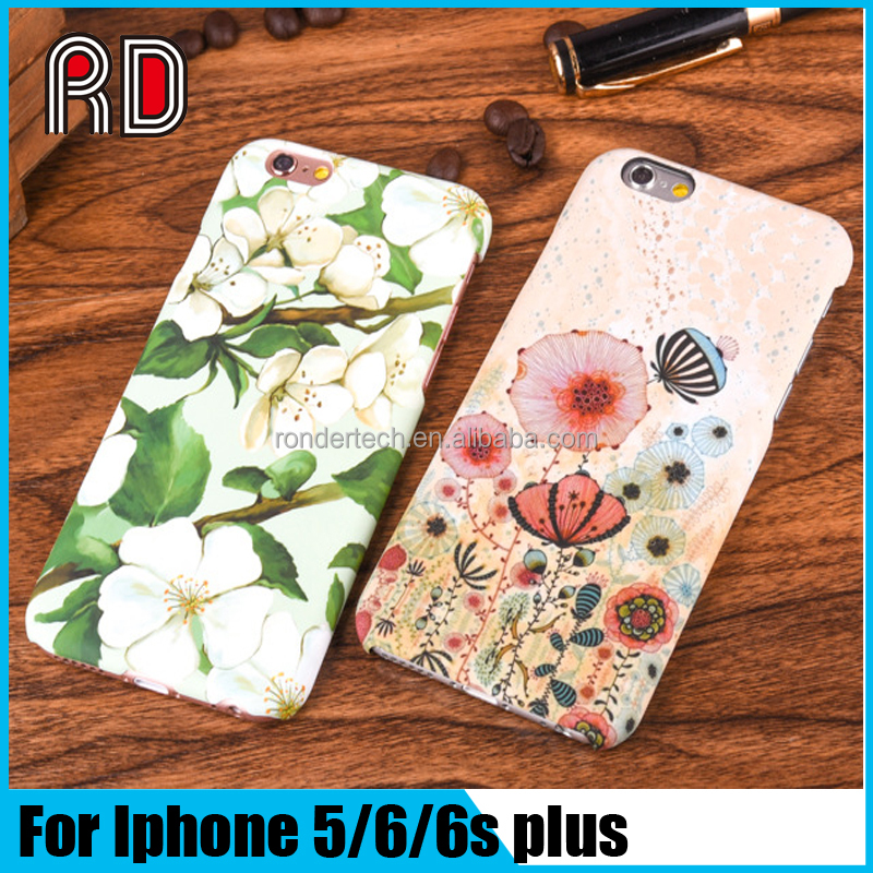 2016 Fashion Printing Rabbit Galaxy Flower 3D effect Sublimation PC Mobile Phone case for Apple Iphone