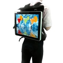 18.5 inch 19 inch android BACKPACK advertising AD media player